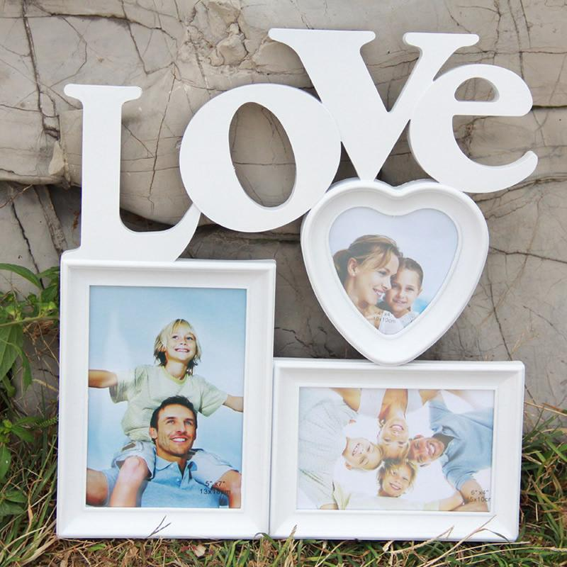 2018 DIY Sweet Love Wooden Photo Frame Wooden Wedding Couple ...