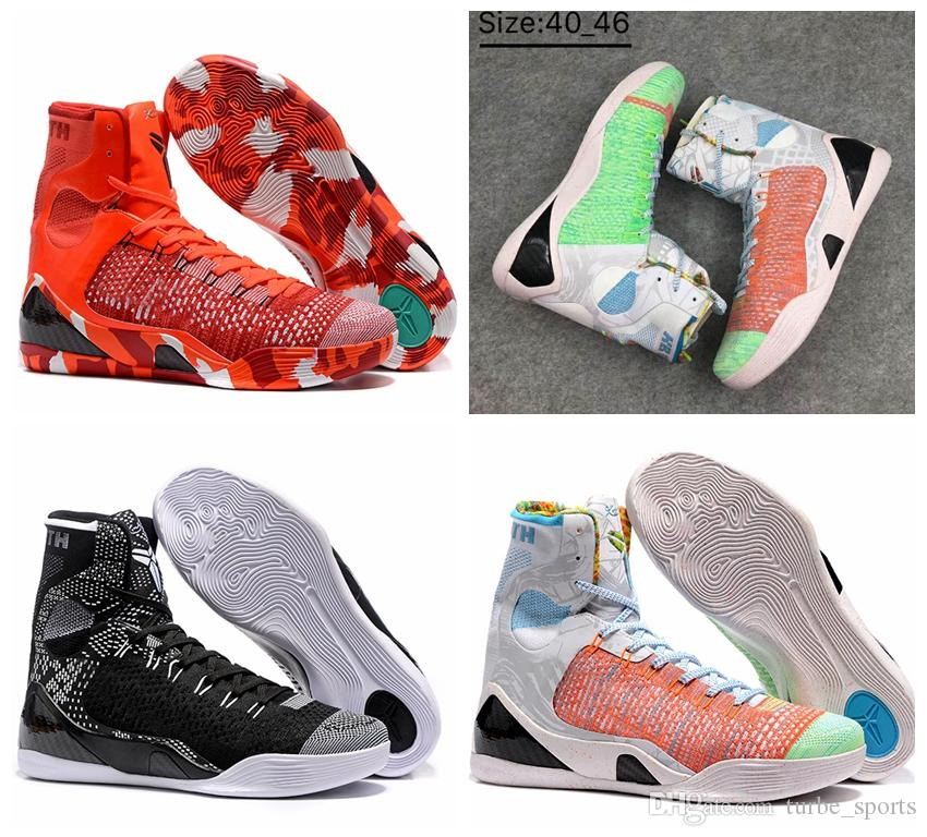 aaa quality 2018 kobe 9 high weaving bhm what the kobe basketball shoes sports mens kb 9s wtk christmas training sneakers size 7 12 basketball shoes women