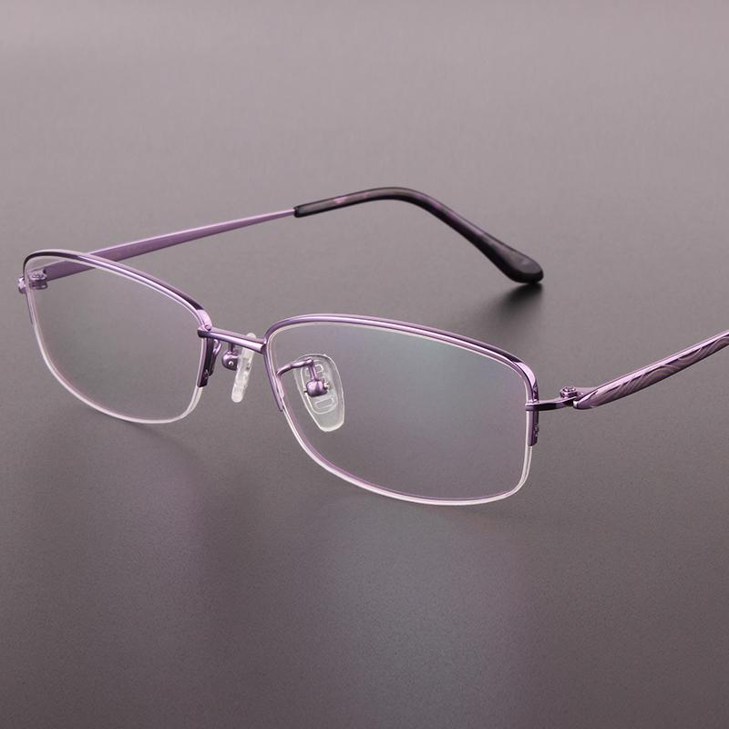 4863a85a6a The New Fashion Half-rimmed Glasses Frame Pure Titanium Eyeglasses ...
