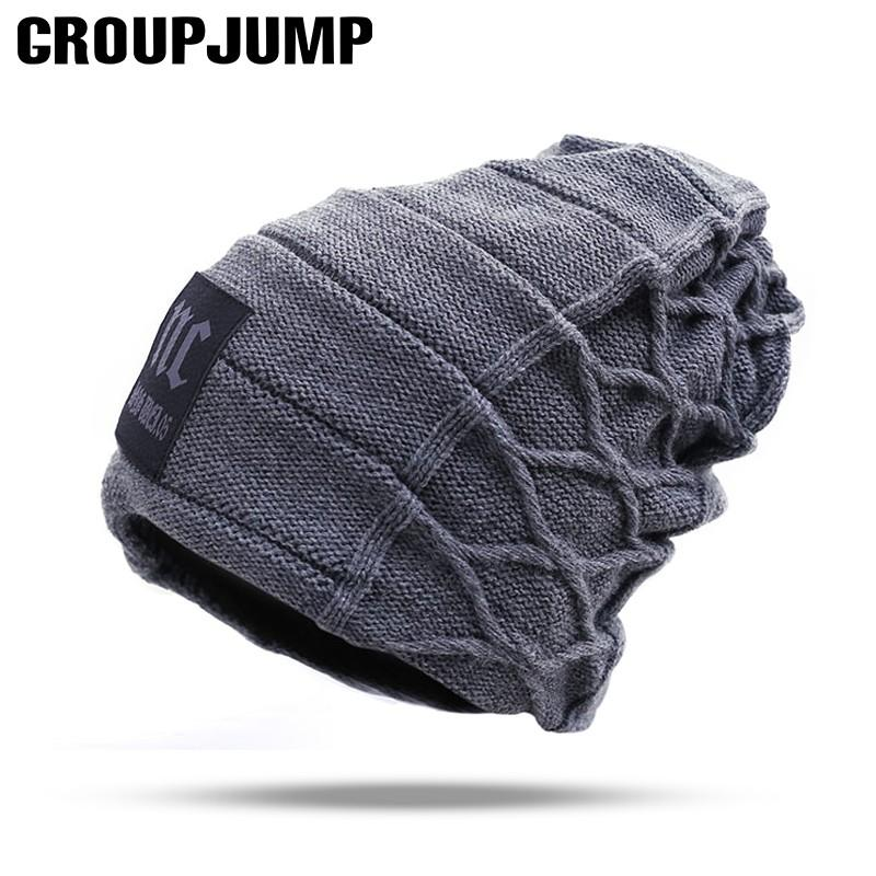 e63ee8654ad997 2018 Stylish Skullies Beanies Winter Hats Man Thick Warm Winter Hat Male  Thick Hat Beanies Cap Men's Caps toucas gorros
