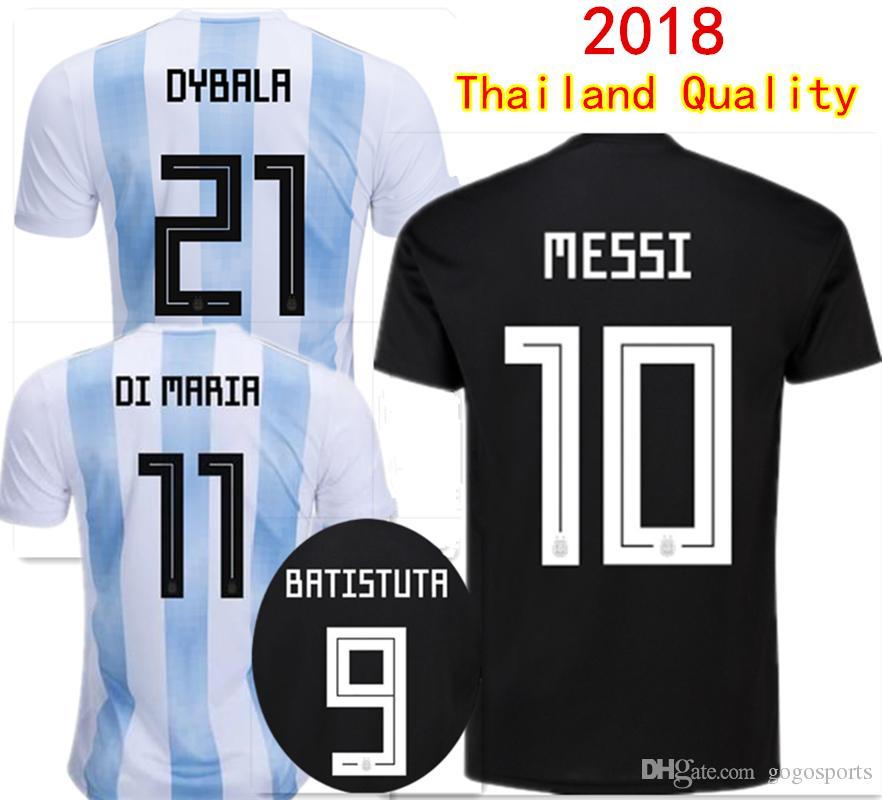385cd28b820 2019 Thai Quality 2018 World Cup Argentina Home Away Soccer Jerseys MESSI  DYBALA DI MARIA AGUERO HIGUAIN Football Shirts National Team Jersey From ...