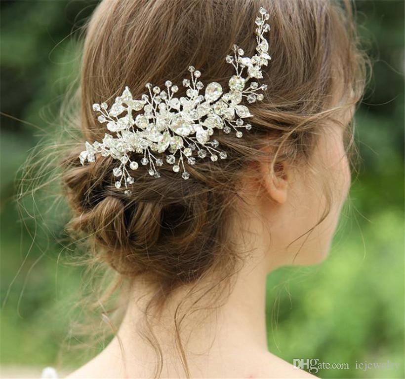 Großhandel Luxus Haarspange Hochzeit Braut Kristall Strass Krone ...