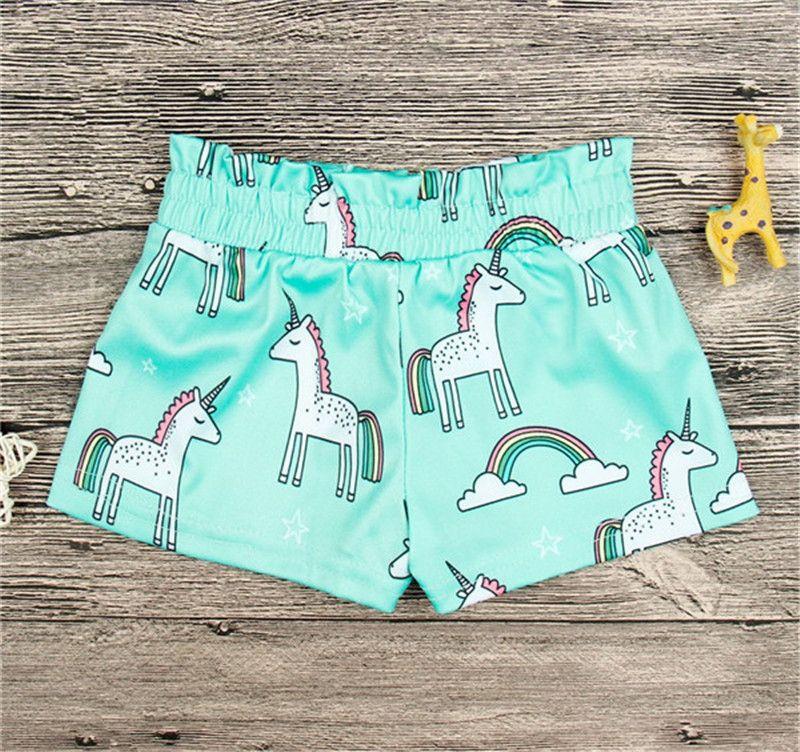 f46378189688f Summer Unicorn Kids Shorts Wholesale Full Print Baby Elastic Waist Pant Girls  Shorts INS New Cartoon Baby Pants Girls Wear Baby Clothes 0 4T Shorts For  ...