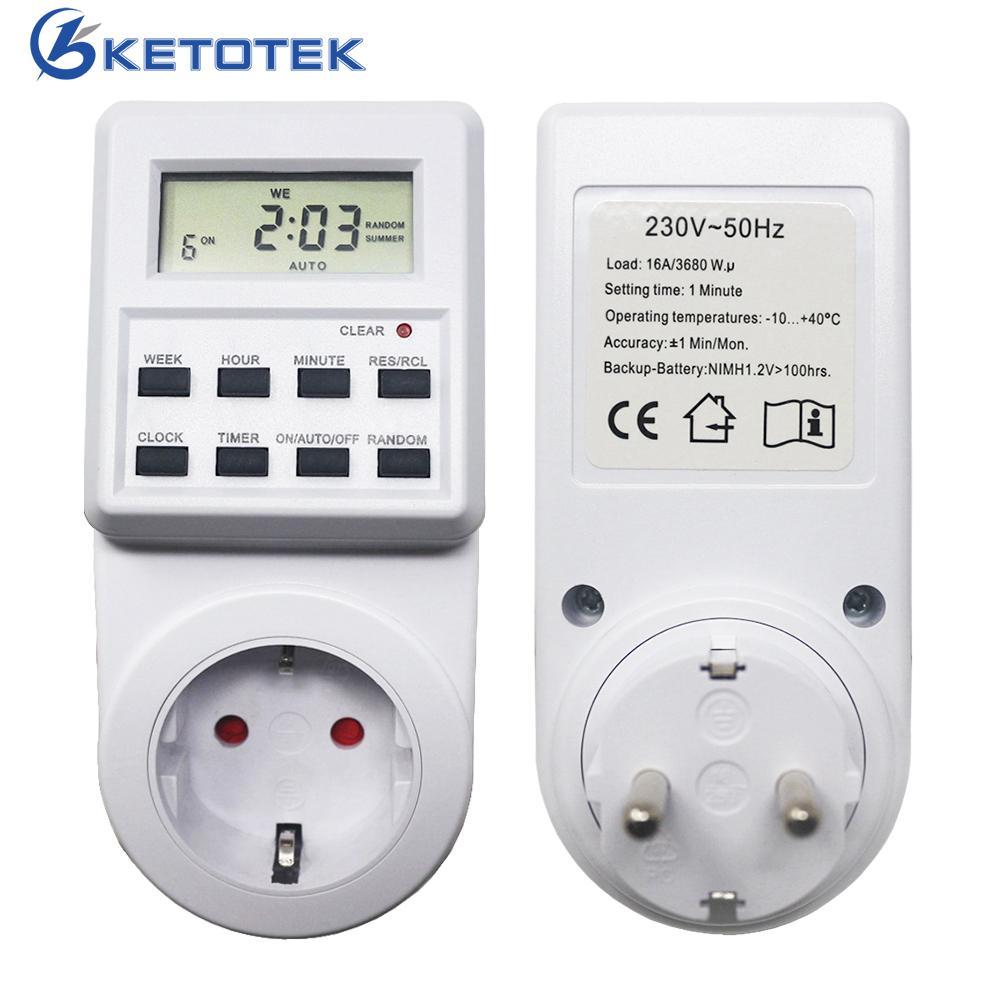 144479c2dc0 Compre AC 230 V Interruptor De Tempo Digital Interruptor Temporizador  Programável Temporizador Eletrônico Tomada Com Função De Tempo Aleatório    Sumer De ...