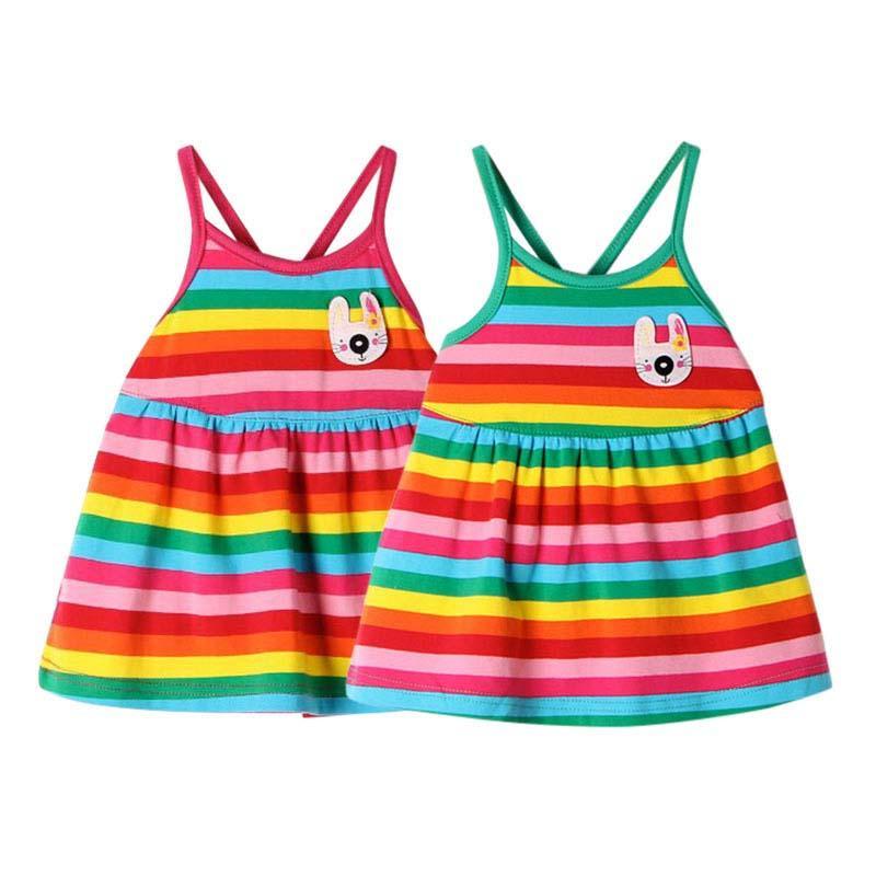 44a45c9c9 2019 BOBORA Summer Newborns Rainbow Striped Dress Baby Girls Sleeveless  Princess Dress 0 18M From Redeye, $35.11 | DHgate.Com