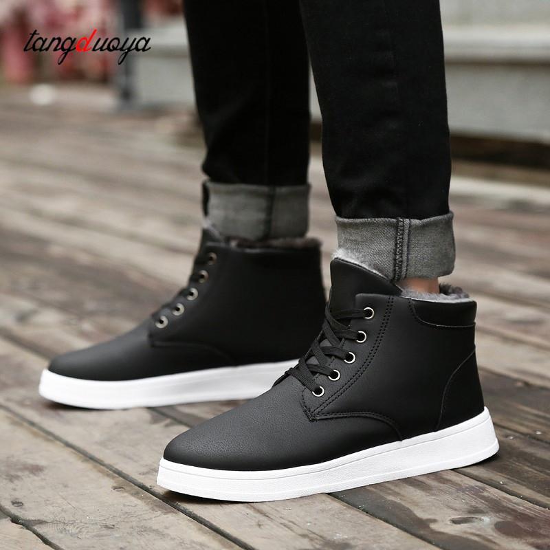 49cf8e9c7b13c Compre Botas Cortas De Tobillo Para Hombre Botas De Invierno Calzado Para  Hombres Zapatos Impermeables Zapatillas De Nieve Zapatos Tenis Para Hombre  Botas ...