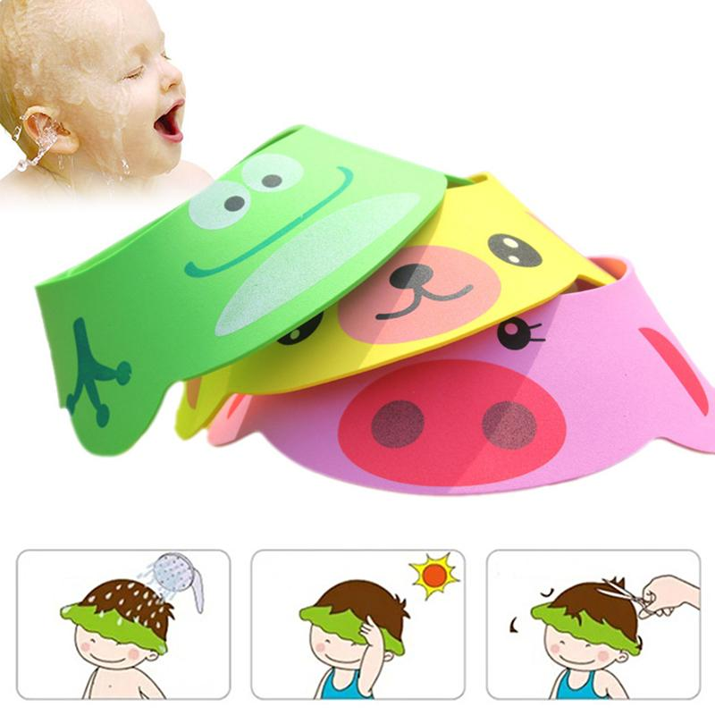 Furniture Parts Wholesale 5* Soft Baby Kids Shampoo Bath Shower Cap Hat Wash Hair Shield