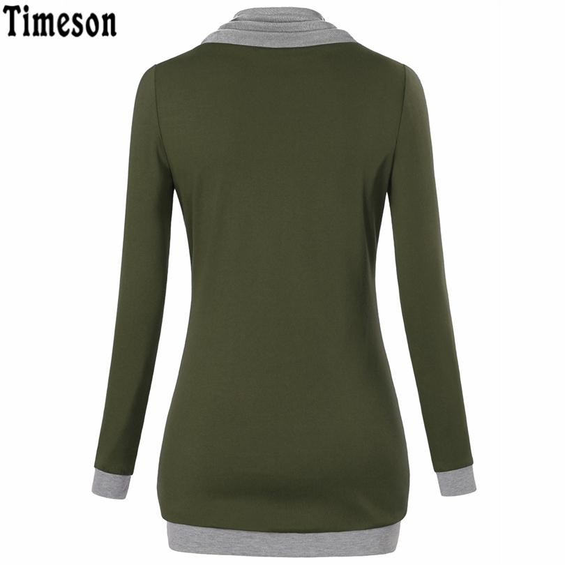 2017 Autumn Long Sleeve Kangaroo Pocket Women Hoodies Scarf Neck Casual Knitted Patchwork Pullovers Female Out Wear Tee Shirt