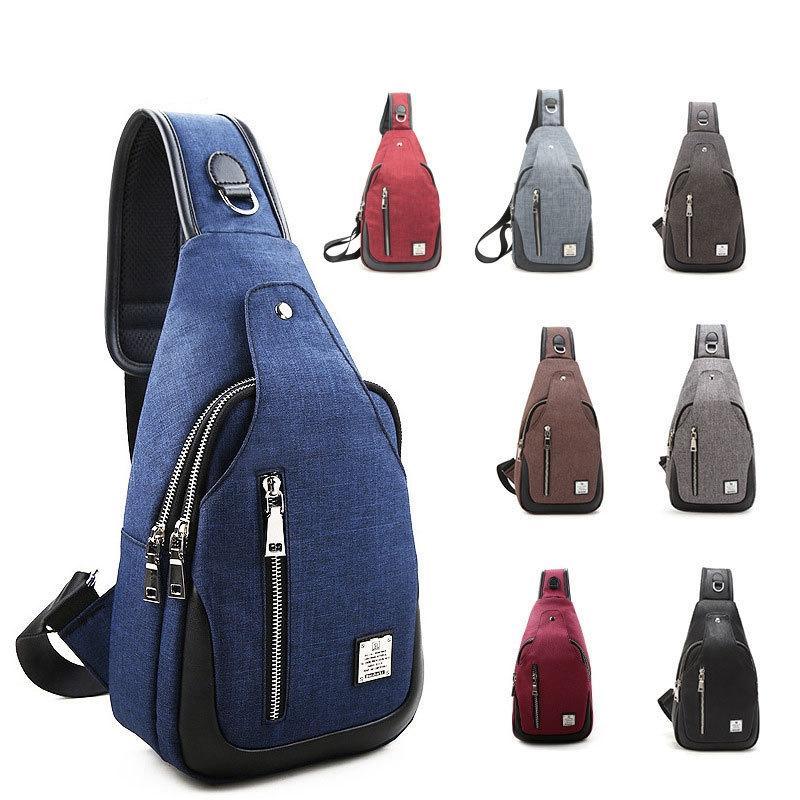 Oxford Cloth Chest Bag Multifunctional Small Male Messenger Crossbody Bags  Fashion Shoulder Bag Kids Backpack GGA879 Skateboard Backpacks Snowboard ... f90809e7c1a1a
