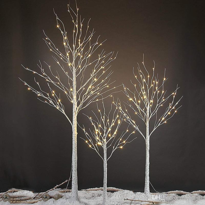152 led birch tree light christmas decorations home festival party wedding indoor and outdoor use warm white battery powered string lights outdoor led - Birch Christmas Decorations