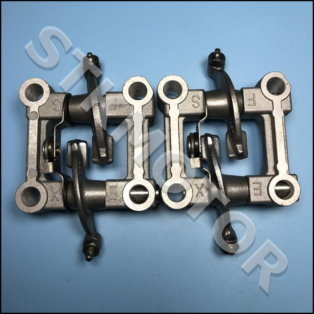 2pcs GY6 125cc 150cc Engine Parts Camshaft Holder Arm Rocker Assy Chinese  Scooter Parts ATV Znen Baotian Taotao