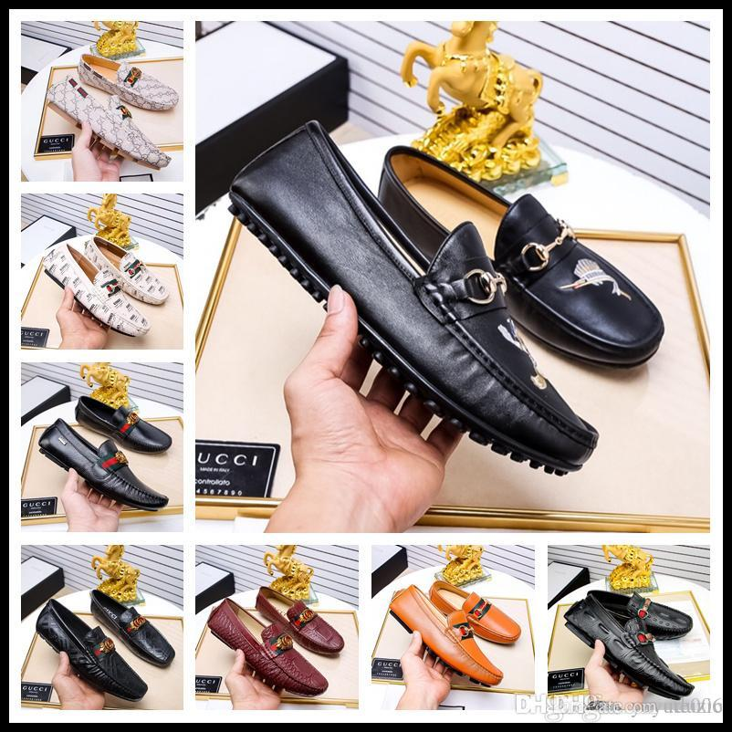 956a3a1cf Compre Fábrica Men Shoes Mocassim De Couro De Luxo Marca De Condução  Ocasional Oxfords Sapatos Mocassins Mocassins Sapatos Masculinos Sapatos  Italianos Para ...