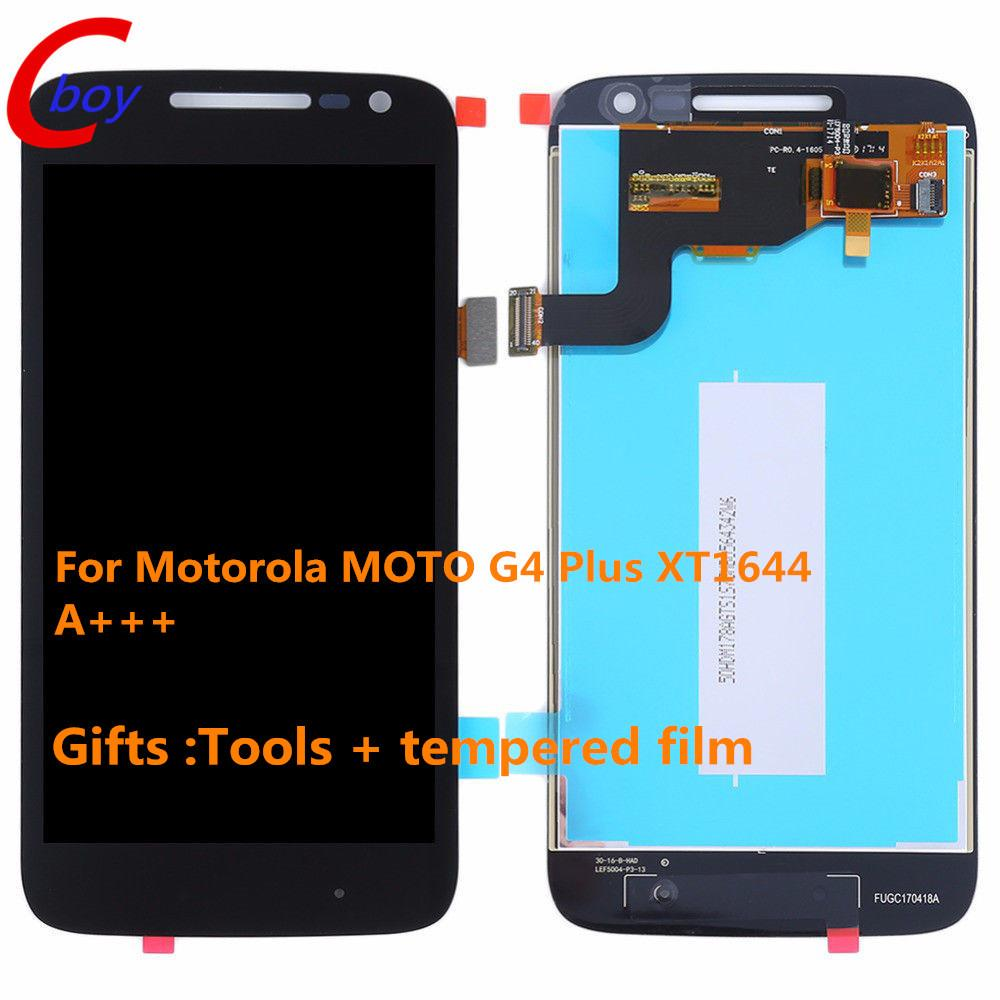2018 A+++ Black And White For Motorola Moto G4 Plus Lcd Screen Touch ...