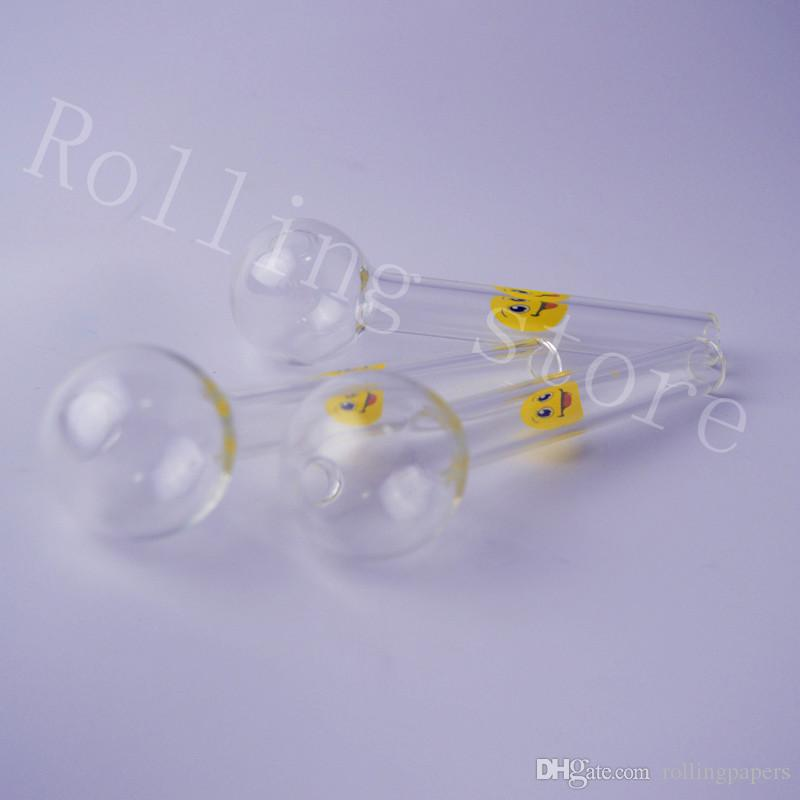 Transparent Glass Pipes Smoking Glass Spoon Pipes Tube Oil Burner Pipes Pyrex Thick Hand Pipe For Heady Smoking Pipe Tobacco for Dry Herbal