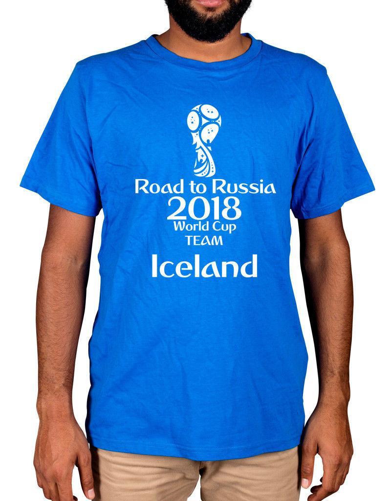 340622b5cf7 Iceland World Cup 2018 T Shirt Russia Football Strákarnir Okkar KSI  Guðjohnsen NEW Fashion T Shirts Summer Straight 100% Cotton Funny T Shirts  For Men Make ...