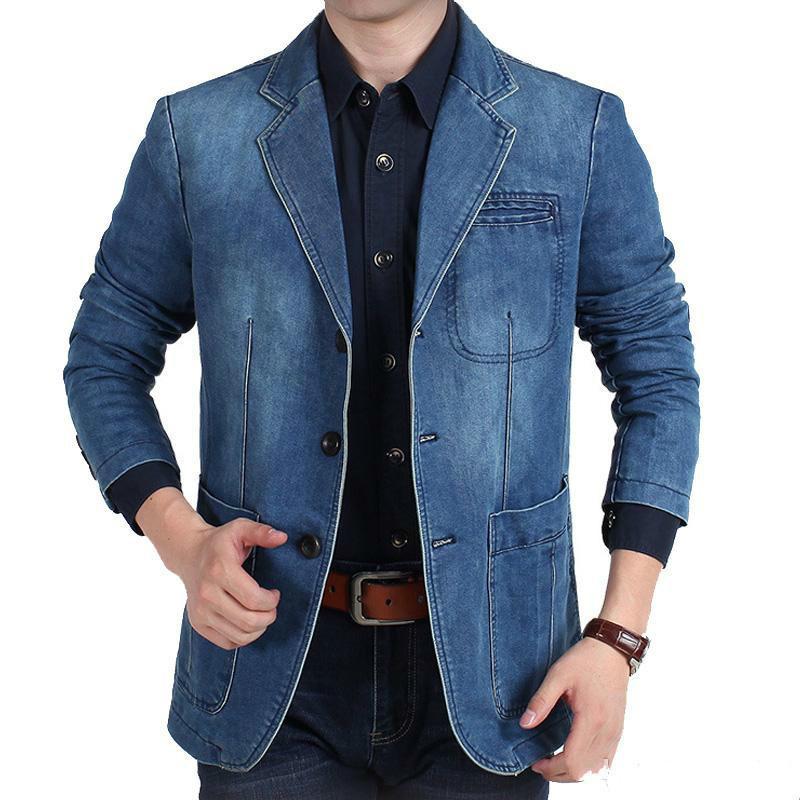 10c3bec70f Acquista Prezzo Più Basso Bigger Size Blazer Di Jeans Uomo Casual Suit  Giacca Di Alta Qualità Primavera Autunno Uomo Abbigliamento Blazer Hombre A  $48.74 ...