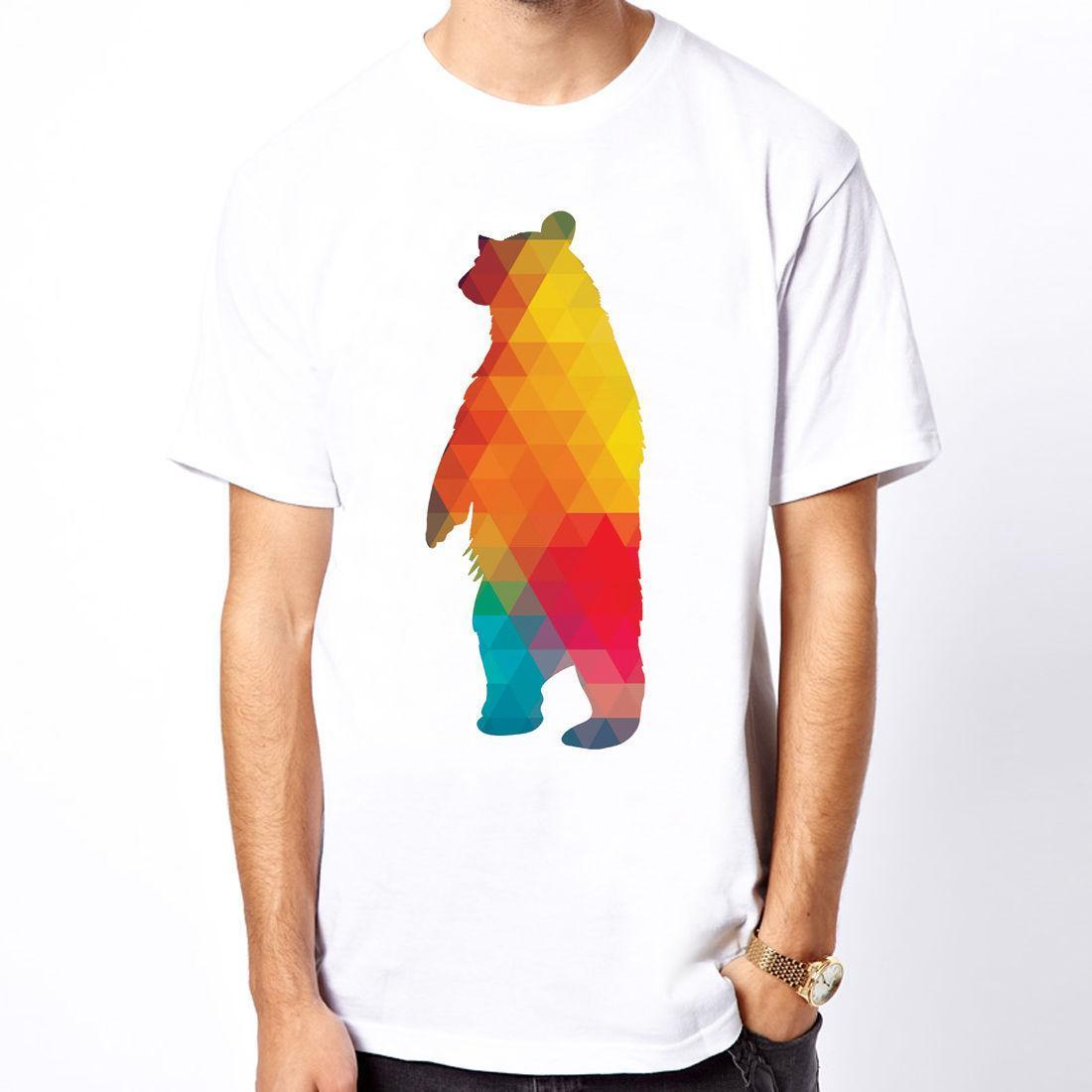 618f1f516c4e Geometric Bear Art Abstract Design Graphic Galaxy Party Gift Men T Shirt  Fashion T Shirts Print Shirt From Lefan05, $14.67| DHgate.Com