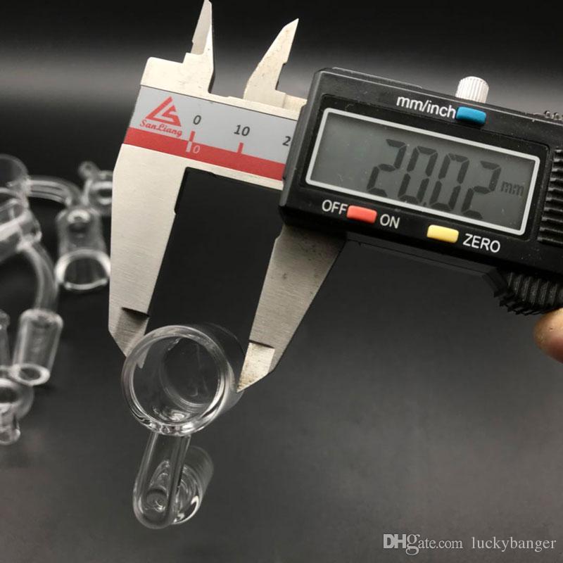 2 mm gruesas tapa plana XL cuarzo Banger uñas con 20 mm OD 10 mm 14 mm 18 mm vidrio libre bola Carb Cap Cuarzo Banger Domeless Nail