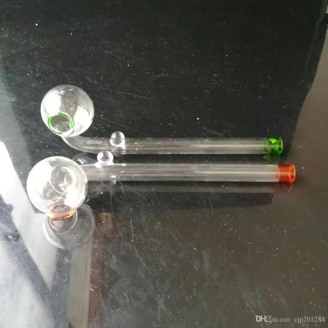 Longo curvo pan, Atacado vidro Bongs Acessórios, vidro de água de fumo da tubulação, frete grátis