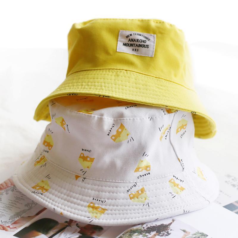 Panama Two Side Reversible Unisex Fashion Bucket Hat Bob Caps Hip Hop Gorro  Men Summer Cap Sad Boys Beach Sun Banana Bucket Hat Mens Hat Sunhat From ... a37691c9898