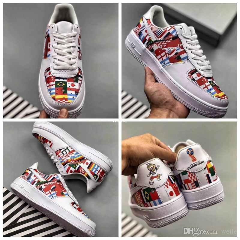 d61169c1644 2018 New Force One World Cup International Flag Pack Zapatillas Para  Hombres Mujeres Fuerzas Dunk Sports Zapatillas De Deporte Chaussures Zapatos  Por Weile