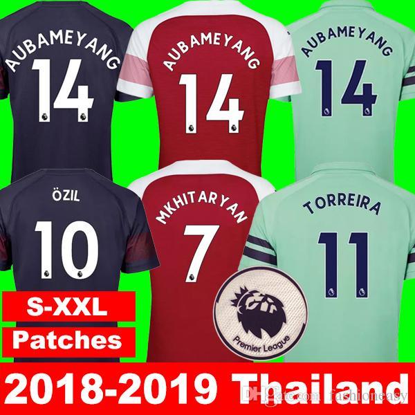 cb911fdc284 Top Arsenal Soccer Jerseys 2018 2019 AUBAMEYANG MKHITARYAN OZIL ...