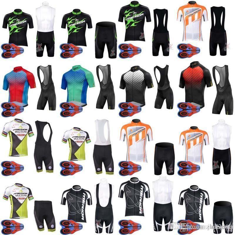 Summer New MAVIC MERIDA Team Cycling Short Sleeves Jersey Bib Shorts Sets Bicycle  Clothing Top Brand Quality Ropa Ciclismo D1640 Gore Bike Wear Bike ... d3aeaa45a