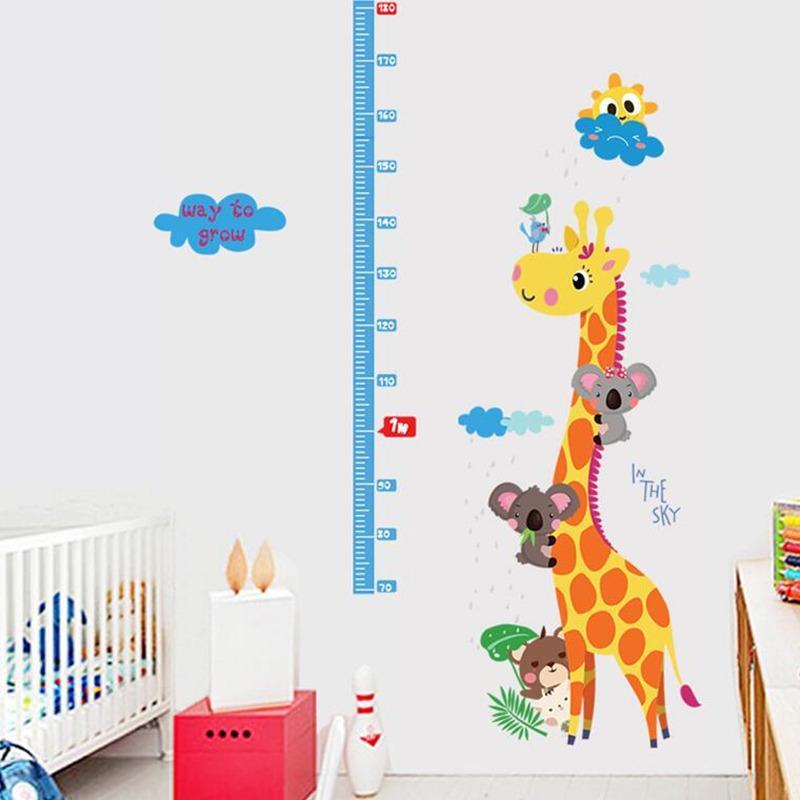 Foto Sticker Muur.Kids Hoogte Grafiek Muursticker Interieur Giraf Hoogte Heerser