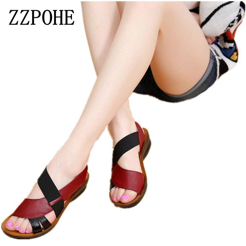 7960ef9c7203 ZZPOHE Summer New Woman Soft Bottom Middle-aged Sandals Fashion ...