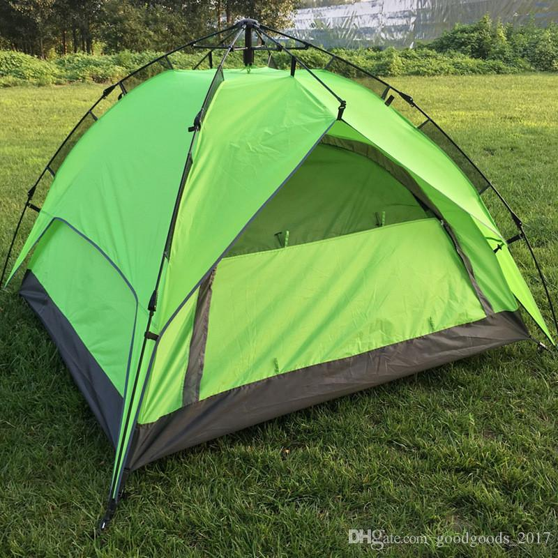 Outdoor Tents Fully automatic Opening Instant double layer Portable Beach Tent Beach Shelter Hiking Camping Family Tents 2-4 Person mk290