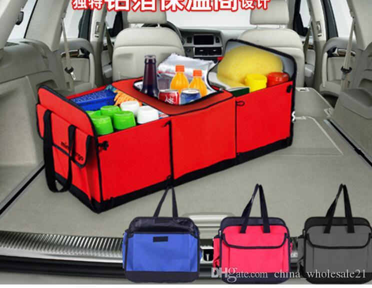 2018 Foldable Multi Compartment Fabric Hippo Car Truck Van SUV Storage Basket Trunk Organizer And Cooler Set From China Wholesale21