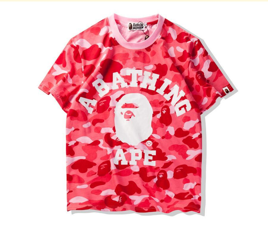 e1a96c3ba5a Summer Camouflage T Shirts For Teenager AAPE Tide Brand Oversized T Shirts  Summer Leisure T Shirts For Man Short Sleeve Lapel Shorts Fun Shirt Designs  For T ...