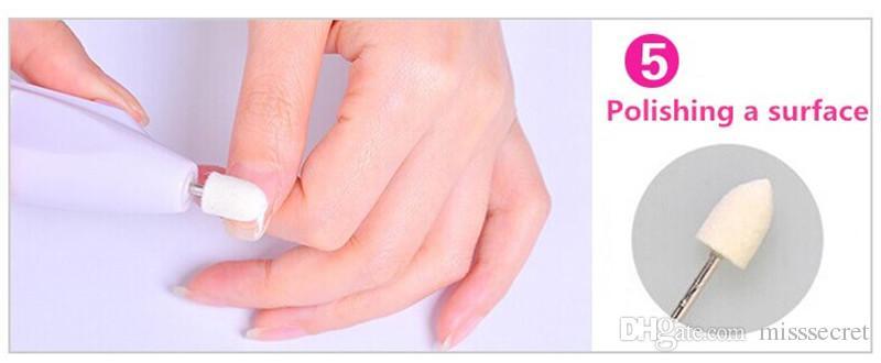 Heißer verkauf 5 In 1 Elektrische Nagelpflege Maschine Automatische Nagel Maniküre Set Nagel Puffer Dateien