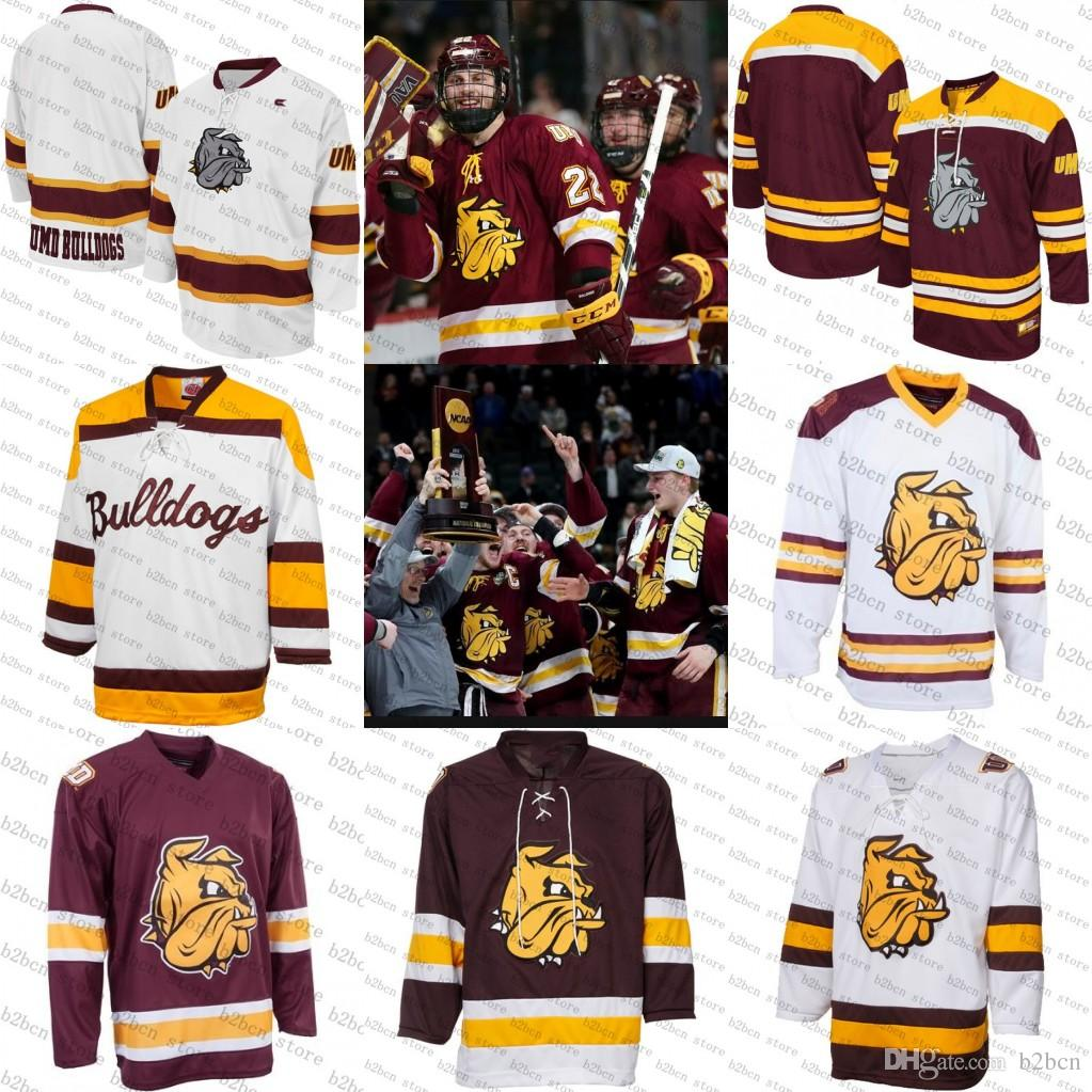 timeless design 31c8e c6a4f 2018 new Karson Kuhlman Jared Thomas blank Minnesota Duluth Bulldogs Maroon  Tackle Twill College Hockey Jersey