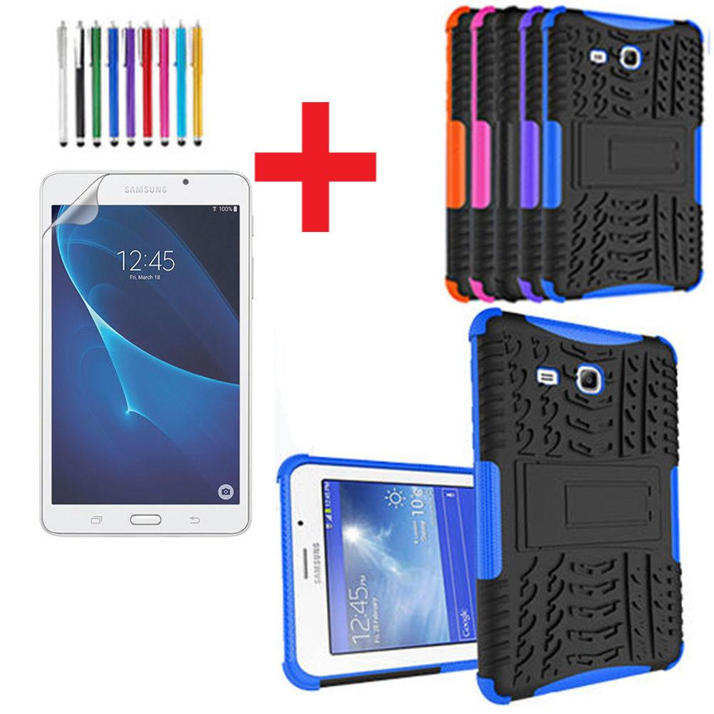 wholesale dealer 1244f 93af4 For Samsung Galaxy Tab E lite 7 Heavy Duty Hard Hybrid Kickstand Case Cover