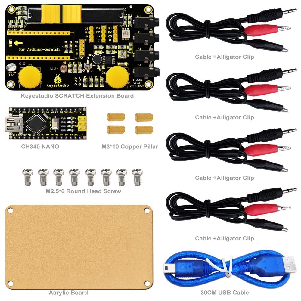 Keyestudio Scratch Kit for Arduino Education Starter with Scratch Board  CH340 Nano board PDF Datasheet