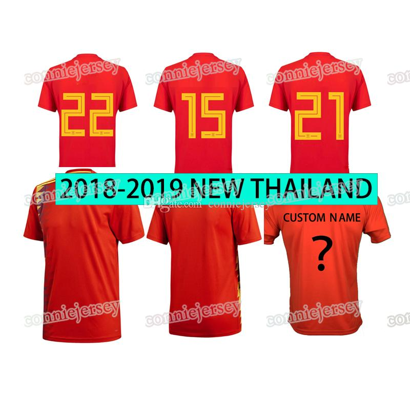75928cb84 2019 Soccer Jersey Thailand Bullfight Legion Home Red Jerseys 18 19 Football  Shirt Sport Shirts Spanish Home Football Uiniforms From Conniejersey