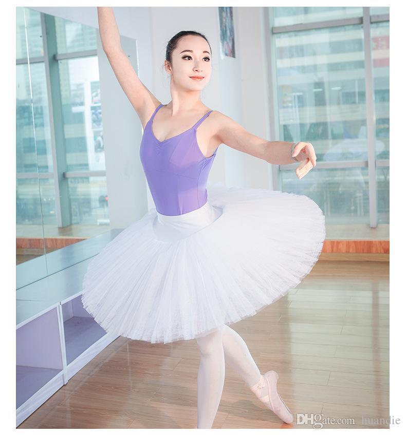 Белая черная красная профессиональная 8-слойная балетная пачка для обучения Юбка Bellerina для балета