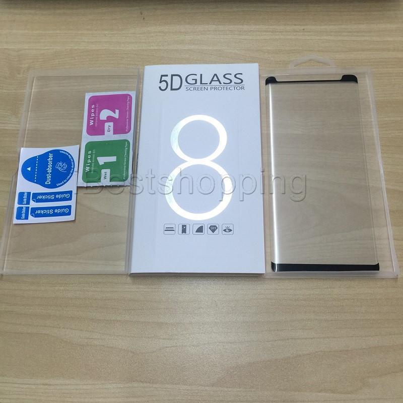 Kaliteli Temperli Cam Ekran Koruyucu Kılıf Dostu Kavisli 3D Samsung Galaxy S10e Için Perakende Paketi Ile S8 S9 S10 Artı Not 9 8