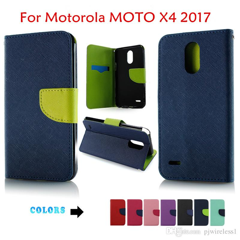 low priced 466fc ad621 For iphone x 8 plus 7 PLUS For Motorola MOTO X4 2017 Flip Stand Wallet  Leather Case With Frame Phone Cover B