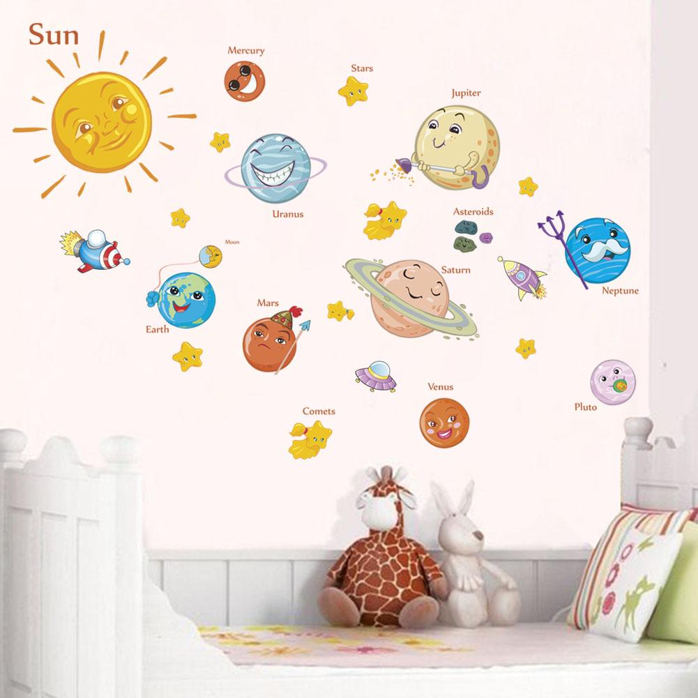 Solar System Wall Stickers Decals For Kids Rooms Stars Outer Space ...