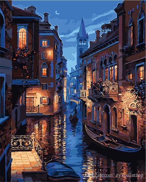 Diamond embroidery scenery Venice water town diy diamond painting cross stitch kit resin full round diamond mosaic home decoration yx4314