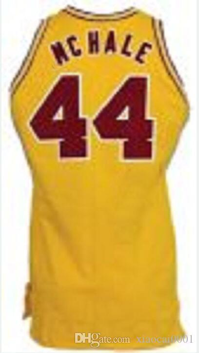 aee2158dba46 2019 Wholesale Custom KEVIN McHALE  44 COLLEGE Vest Jersey SEWN NEW ANY  NAME Mens Yellow Red Jerseys From Xiaocai0001