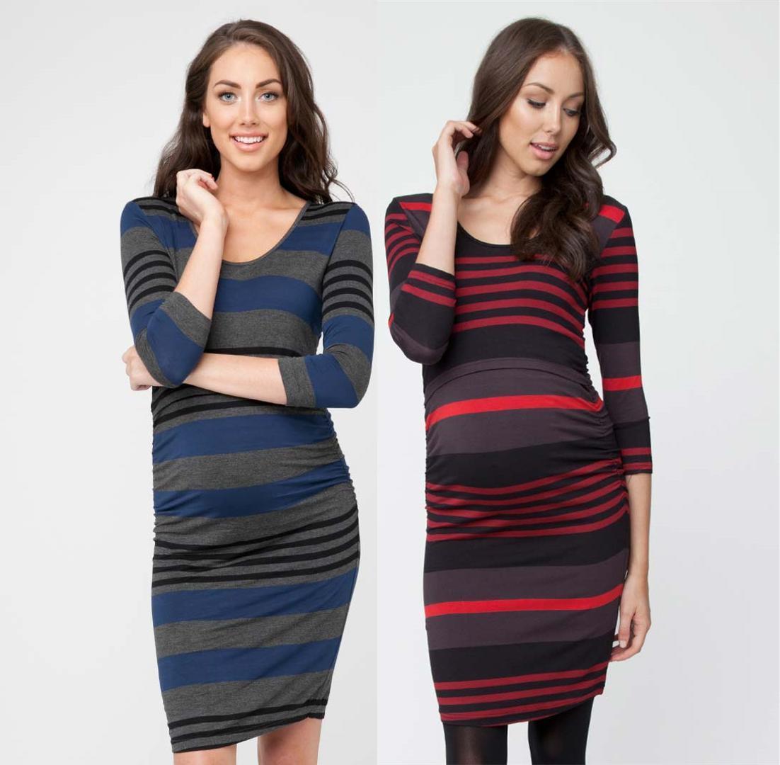 d104486a7b03b 2019 Cotton Striped Nursing Dress For Pregnancy Woman Short Summer  Maternity Dresses Clothing Breastfeeding Nursing Dress From Paradise02,  $22.7 | DHgate.