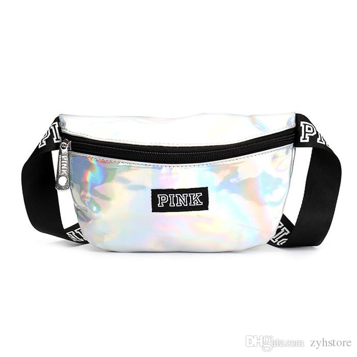 5f2c8182ce PINK Letter Fashion Laser Waist Bag Travel Fanny Pack Women Pouch Packs  Outdoor Waterproof Beach Bag Purses Online with  6.76 Piece on Zyhstore s  Store ...