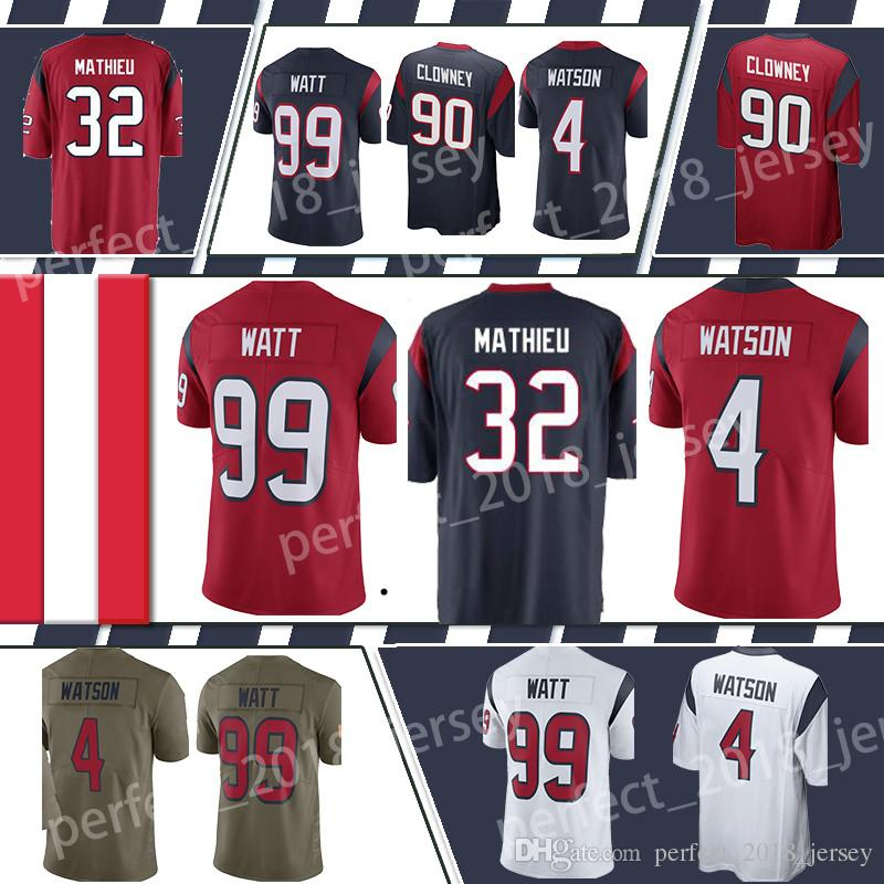 2018 Houston Texan Jersey 4 Deshaun Watson 32 Tyrann Mathieu 90 Jadeveon  Clowney 99 J.J. Watt Top Sales Football Jerseys From Perfect 2018 jersey 553d3696e