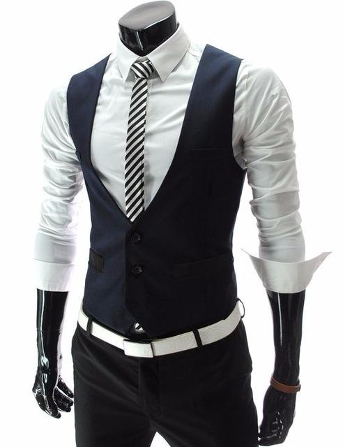 2019 2018 Latest Coat Pant Designs Navy Blue Black Men Vest Fashion  Waistcoat Casual Custom Groom Prom Dinner Vests Terno Masculino From  Harrvey 77632e528a94
