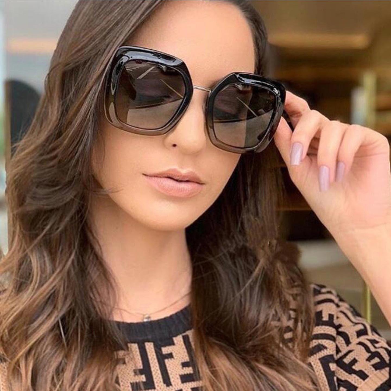 45bad1201478a Compre Mulheres Óculos De Sol 2018 Grande Moldura De Sol De Vidro Quadrado  Retro Óculos De Sol Das Mulheres Moda Shades UV400 Óculos Vintage De  Ltlwb8885