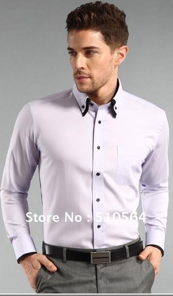 new styles fe306 c5251 Freies Verschiffen-formales Mann-Hemd dünnes Hemd weiße / rosafarbene /  purpurrote / blaue / schwarze Männer