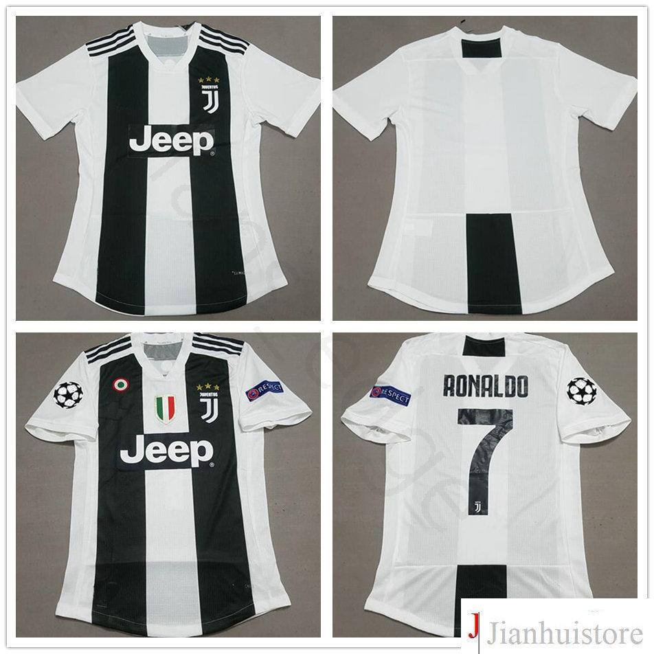 9476063f2 ... ebay 2018 2018 19 player version juventus soccer jersey 7 ronaldo 10  dybala buffon chiellini costa